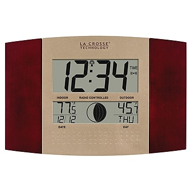 La Crosse Technology WS-8117U-IT-C Atomic Digital Clock with Temperature & Moon phase