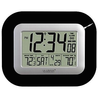 La Crosse Technology WS-8115U-B Digital Atomic Clock with Temperature, Black