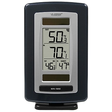 La Crosse Technology WS-6020U-IT Solar Powered Temperature Station with Solar Sensor