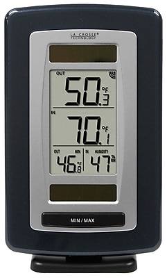 La Crosse Technology Digital Solar Powered Temperature Station with Solar Sensor (WS-6020U-IT)