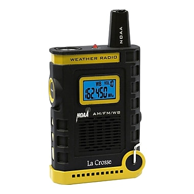 La Crosse 810-805 Super Sport NOAA AM-FM Weather Radio with flashlight