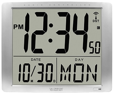 La Crosse Technology Atomic Extra-Large Digital Wall Clock with 7 Inch Time (515-1316)