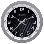 La Crosse Technology 404-1210S 10 Inch WWVB Chapter Ring Analog Wall Clock - Silver