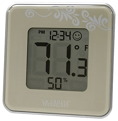 La Crosse Technology Digital Indoor Temperature & Humidity Station, Silver (302-604S)