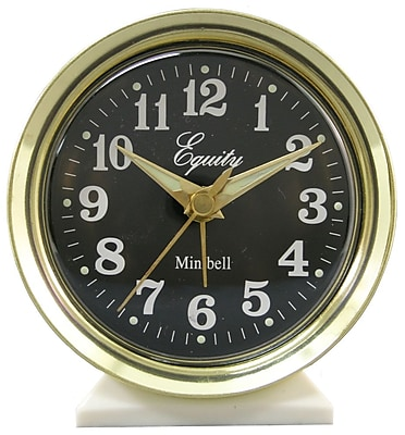 Equity by La Crosse Analog Wind-Up Bell Metal Alarm Clock (12020)