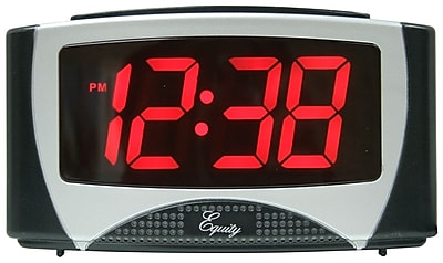 Equity by La Crosse Large 1.2 Inch LED Alarm Clock (30029)