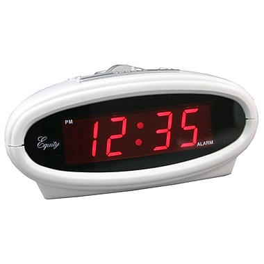 Equity By La Crosse Plastic Digital LED Alarm Clock