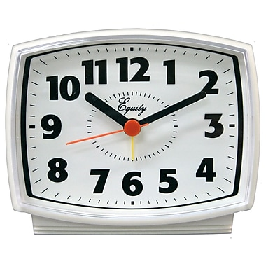 Equity by La Crosse 33100 Electric Analog Alarm Clock, White