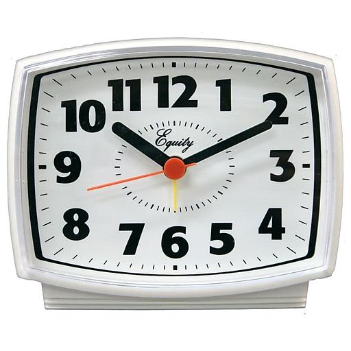 Equity by La Crosse Electric Analog Alarm Clock, White (33100)