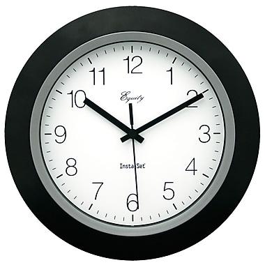 Equity By La Crosse 40222B 10 Inch Analog Wall Clock, Black