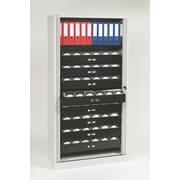 "Bisley® 78"" Premium Multimedia 8-Drawer Tambour Cabinet, Light Gray (TAMK4-LG)"