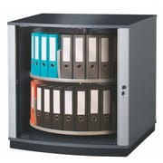 Moll® Lockfile Binder & File Carousel Cabinet, Two Tier, Graphite