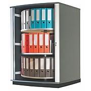 """Moll® 51"""" Three Tier Lockfile Carousel Cabinet, Graphite"""