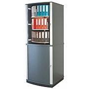 """Moll® 99"""" Six Tier Lockfile Carousel Cabinet, Graphite"""
