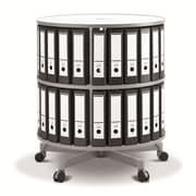 Moll One Turn Binder & File Carousel Shelving, Two Tier (TURN2)