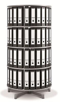 Moll One Turn Binder & File Carousel Shelving, Four Tier (TURN4)
