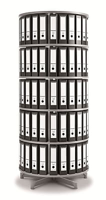 Moll One Turn Binder & File Carousel Shelving, Five Tier (TURN5)