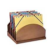 Empire Stack & Style™ Wood Desk Organizers Step Up File, Cherry