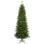 "Vickerman 4.5' x 24"" Salem Pencil Pine Tree With 217 PVC Tips & 150 Dura-Lit Multicolor Light, Green"