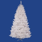 "Vickerman 5.5' x 40"" Spruce Tree With 601 PVC Tips & 450 Dura-Lit Clear Light, Sparkle White"