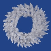 "Vickerman 60"" Spruce Wreath With 720 PVC Tips & 4 Sections, Sparkle White"