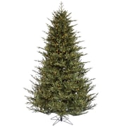 "Vickerman 7.5' x 64"" Green Itasca Frasier Tree w/2454 PE/PVC Tips & 750 Dura-Lit Clear Light, Green"