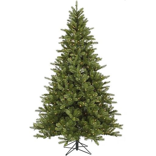 "Vickerman 7.5' x 56"" King Spruce Tree With 1402 PE Tips & 700 Dura-Lit Clear Light, Green"