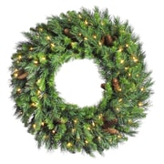 "Vickerman 60"" Cheyenne Pine Wreath With 860 Tips, Green"