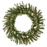 "Vickerman 48"" Mixed Country Pine Wreath With 220 Tips & 140 Dura-Lit Light, Green"