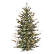 "Vickerman 4' x 40"" Mixed Pine Country Wall Tree With 294 PVC Tips & Unlit Light, Green"