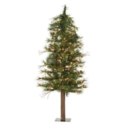 "Vickerman 6' x 34"" Mixed Country Alpine Tree With 442 PVC Tips & 200 Clear Mini Light , Green"