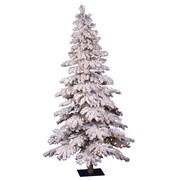 "Vickerman 4' x 29"" Spruce Alpine Tree With 358 Tips & 150 Dura-Lit Clear Light, Flocked"
