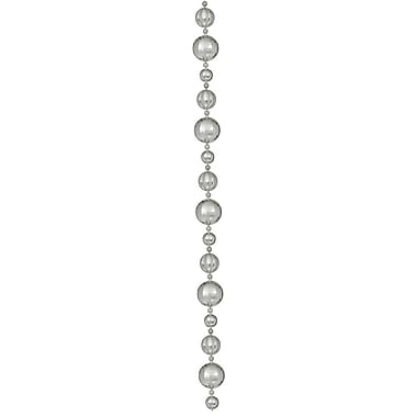 Vickerman 9' Assorted Shatterproof Large Ball Garland, Silver