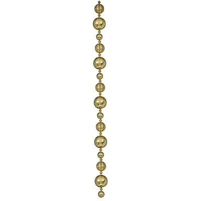 Vickerman 9' Asst Lg Ball Garland 1/Bx, Gold