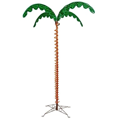 Vickerman 7' LED Rope Halographis Leaves & Stakes Light Palm Tree For Outdoor Use