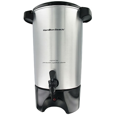 Hamilton Beach 42 Cup Coffee Urn Silver Staples