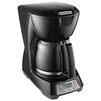 Proctor Silex 12 Cup Programmable Coffee Maker, Black 88948