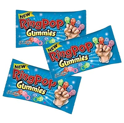 Ring Pop Gummies 1.7 oz. Pack; 16 Packs/Box