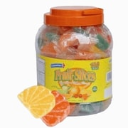 Wrapped Fruit Slices, 150 Pieces/Jar