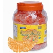 Individually Wrapped Orange Fruit Slices, 150 Pieces/Jar