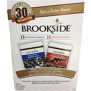 Brookside Dark Chocolate Superfruit Variety 24 oz. Box, 30 Pouches/Box