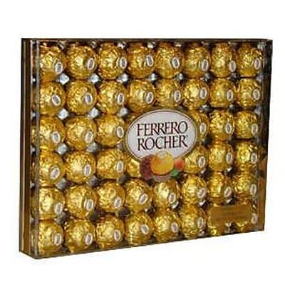 Ferrero Rocher Hazelnut Chocolate Diamond Gift Box, 48 Pieces (241-00015)