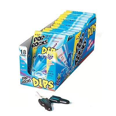 Pop Rocks Dips Blue Raspberry; 0.63 oz. Pouch, 18 Pouches/Box