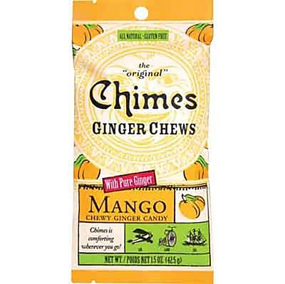 Mango Ginger Chews 1.5 oz. Pack, 12 Packs/Box
