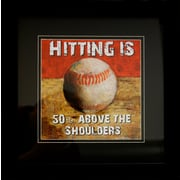 "Diamond Decor ""Baseball"" Framed Sports Print Art, 14"" x 14"""