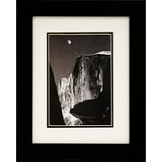 "Diamond Decor Ansel Adams ""Moon Half Dome"" Framed Print Art, 10"" x 12"""