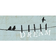 "Diamond Decor ""Bird On A Wire: Dream"" Canvas Art, 8"" x 20"""