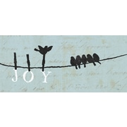 "Diamond Decor ""Bird On A Wire: Joy"" Canvas Art, 8"" x 20"""