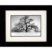 "Diamond Decor ""Oak Tree, Sunrise"" Framed Print Art, 10"" x 12"""