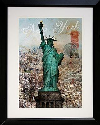 "Diamond Decor ""New York Landmark"" Framed Print Art, 22"" x 28"""